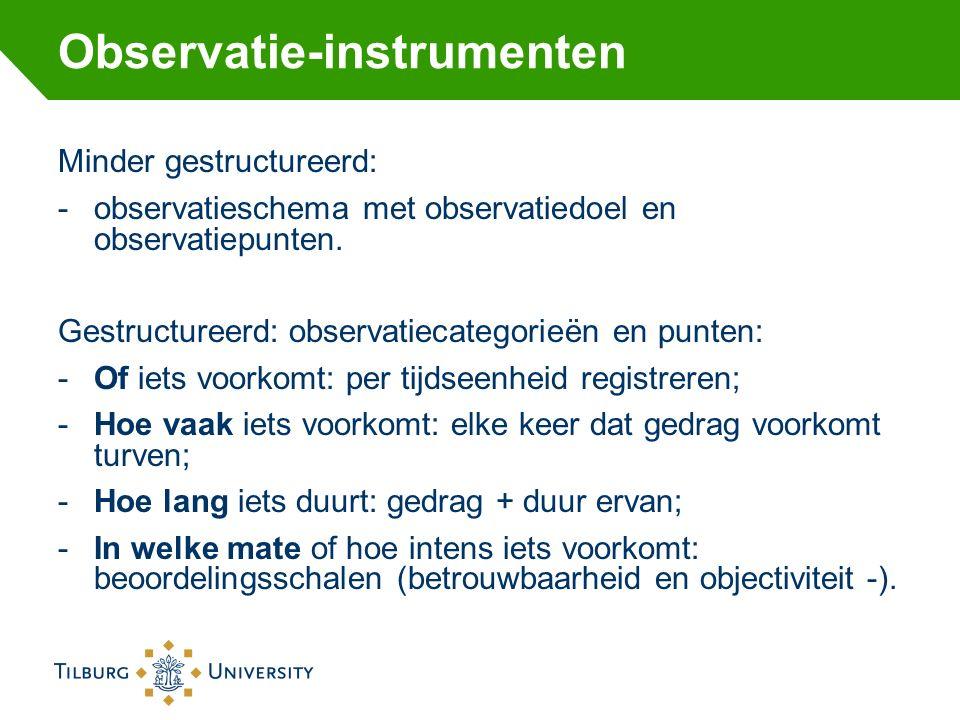 Observatie-instrumenten