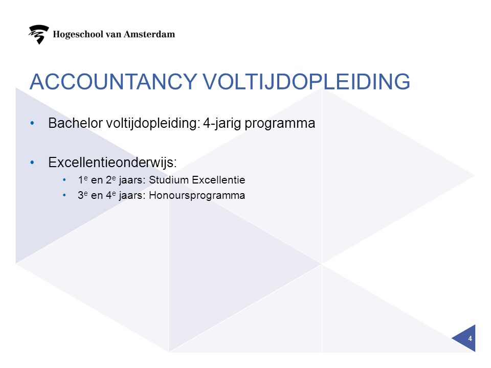 Accountancy VOLTIJDOPLEIDING
