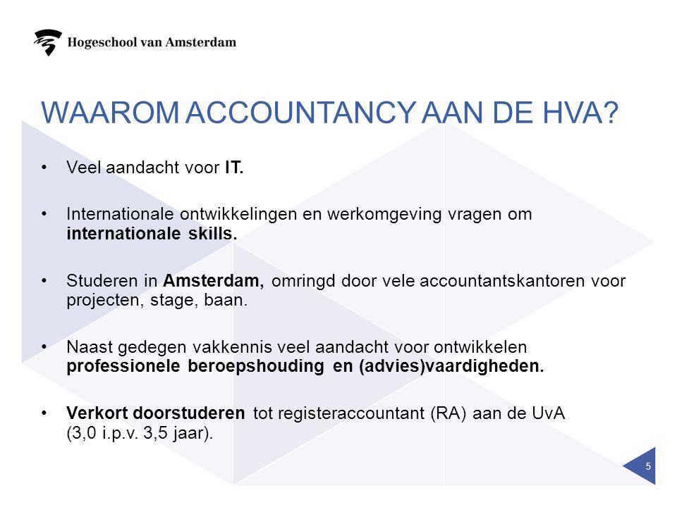Waarom accountancy aan de hva
