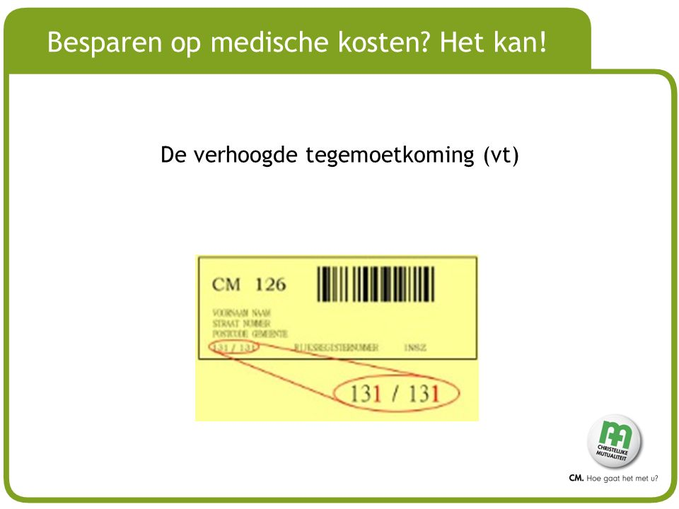 Besparen op medische kosten Het kan!