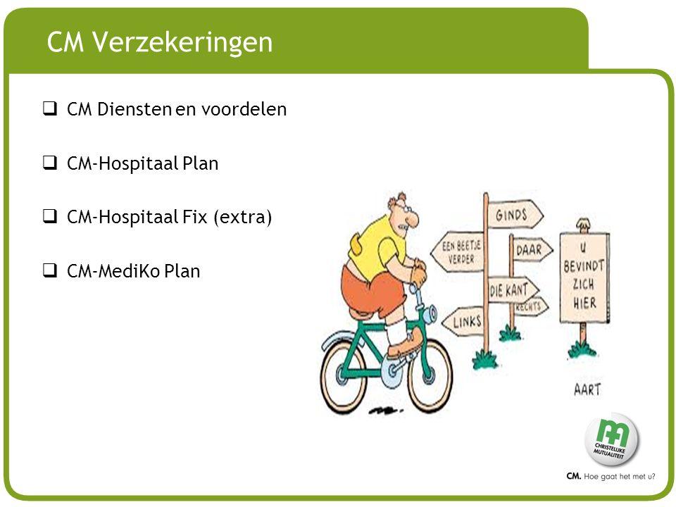 CM Verzekeringen CM Diensten en voordelen CM-Hospitaal Plan