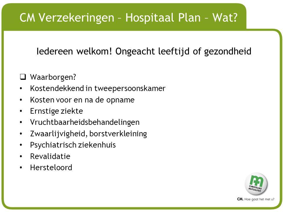 CM Verzekeringen – Hospitaal Plan – Wat