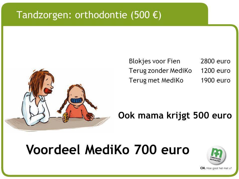Tandzorgen: orthodontie (500 €)