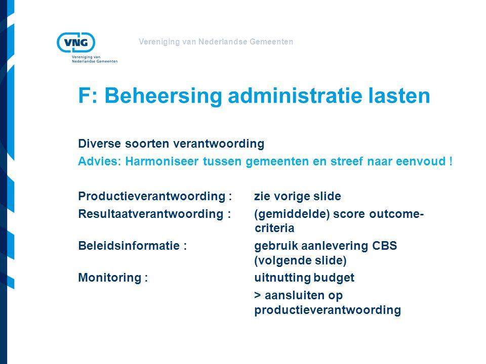 F: Beheersing administratie lasten