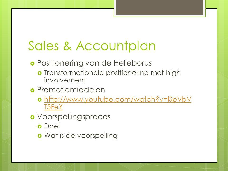 Sales & Accountplan Positionering van de Helleborus Promotiemiddelen