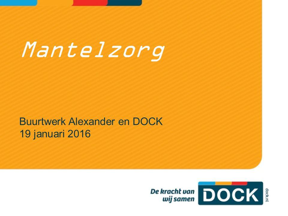 Mantelzorg Buurtwerk Alexander en DOCK 19 januari 2016
