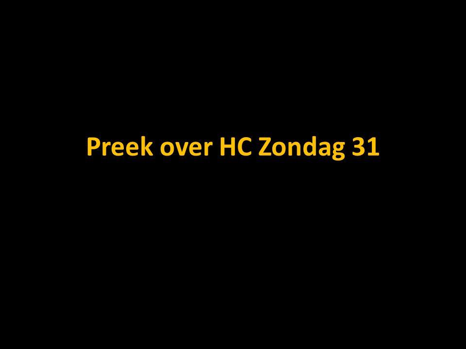 Preek over HC Zondag 31