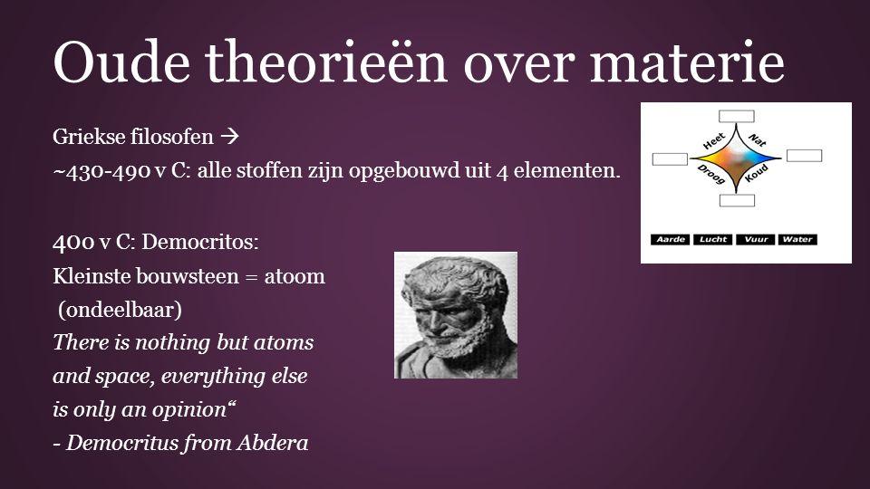 Oude theorieën over materie