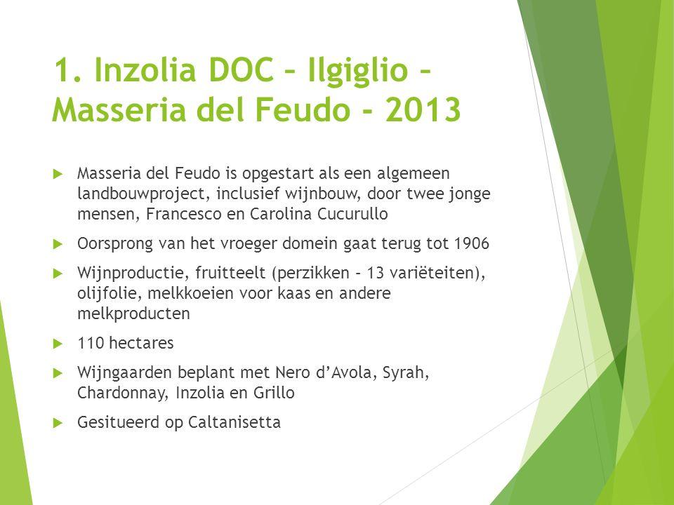 1. Inzolia DOC – Ilgiglio –Masseria del Feudo - 2013