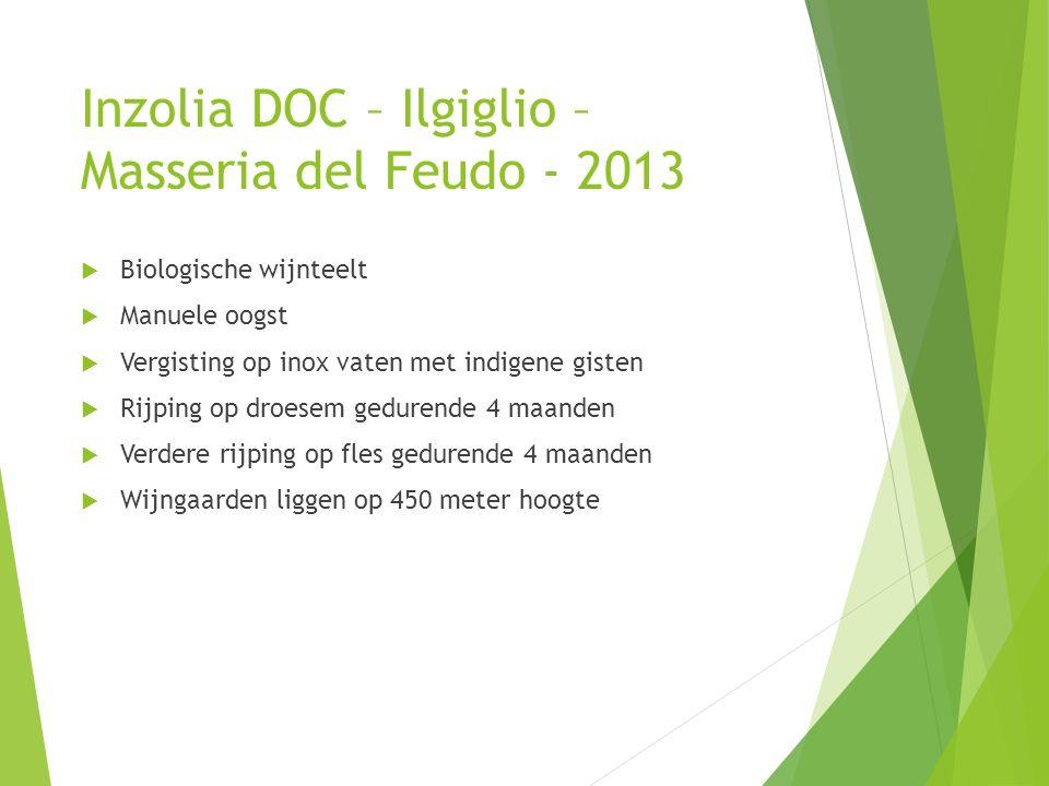 Inzolia DOC – Ilgiglio –Masseria del Feudo - 2013