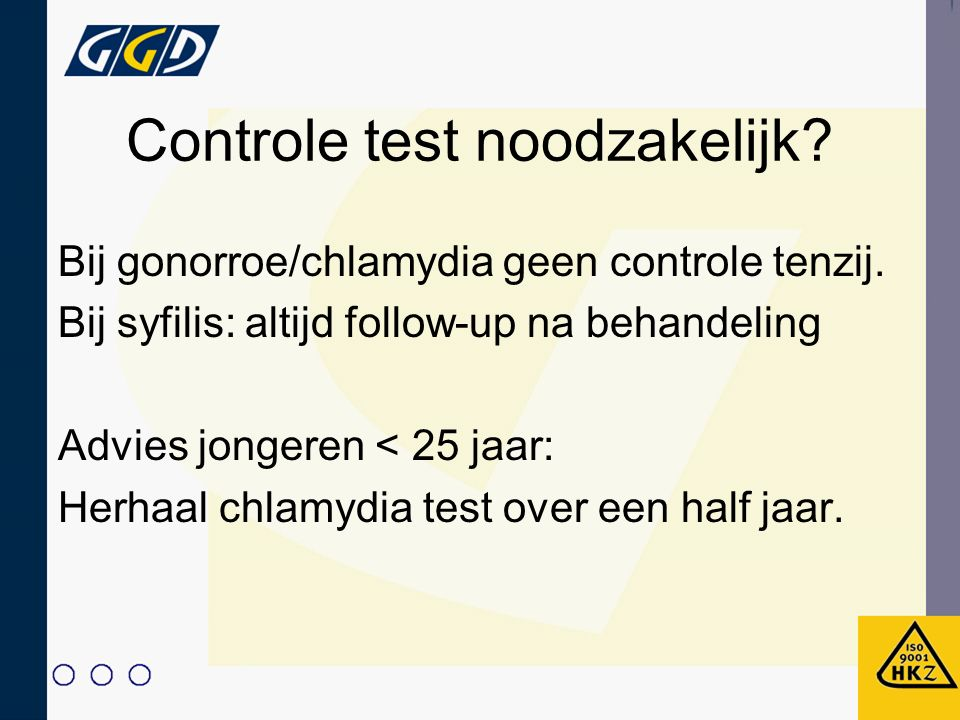 Controle test noodzakelijk