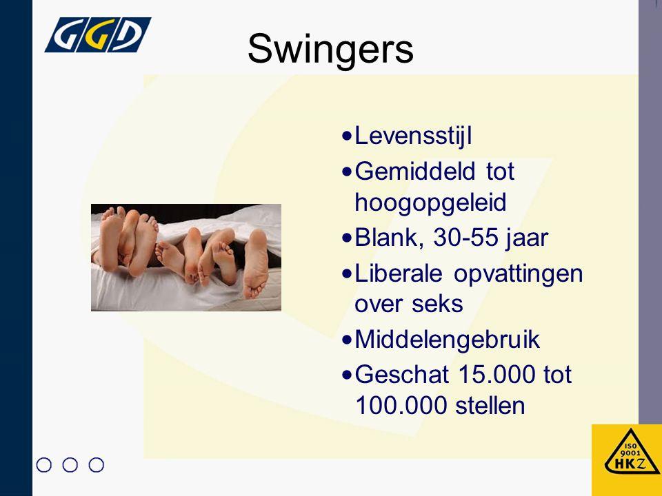 Swingers Levensstijl Gemiddeld tot hoogopgeleid Blank, 30-55 jaar
