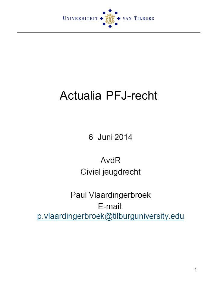 Actualia PFJ-recht 6 Juni 2014 AvdR Civiel jeugdrecht