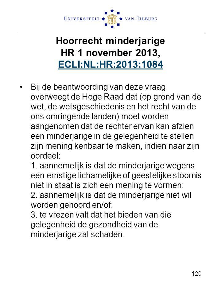 Hoorrecht minderjarige HR 1 november 2013, ECLI:NL:HR:2013:1084