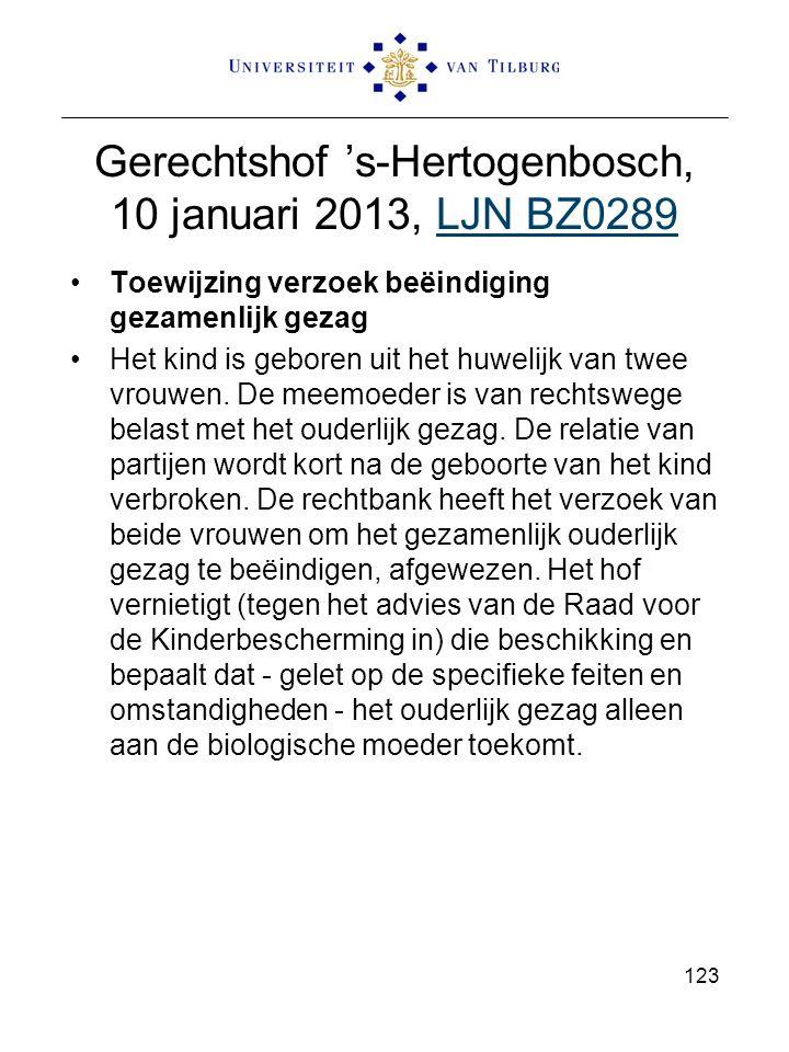Gerechtshof 's-Hertogenbosch, 10 januari 2013, LJN BZ0289