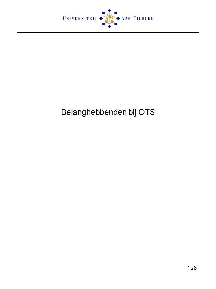 Belanghebbenden bij OTS