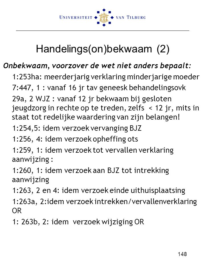 Handelings(on)bekwaam (2)