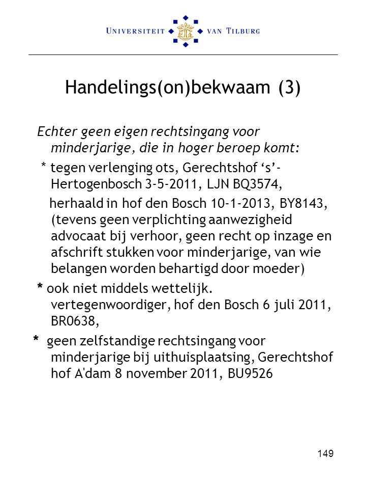 Handelings(on)bekwaam (3)