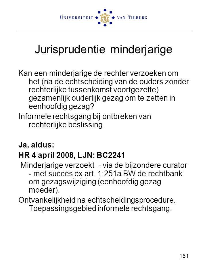 Jurisprudentie minderjarige