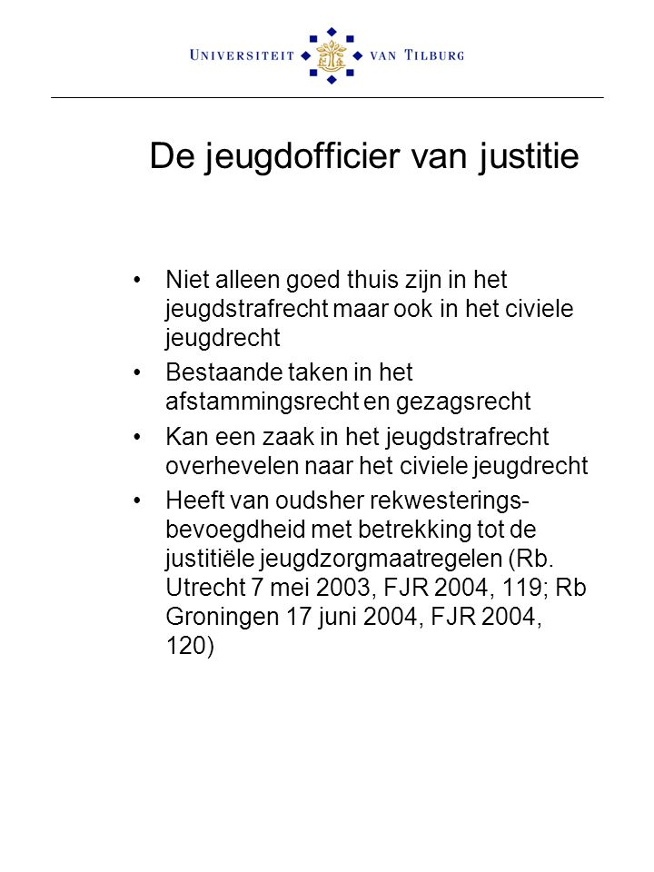 De jeugdofficier van justitie