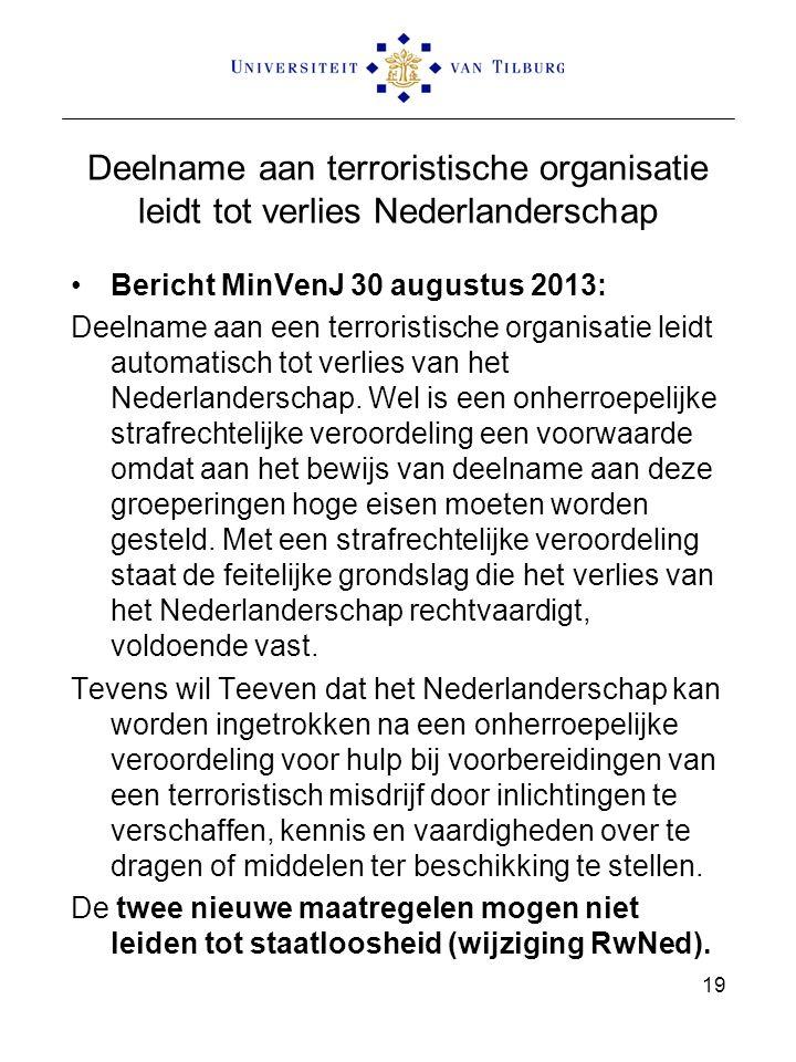 Deelname aan terroristische organisatie leidt tot verlies Nederlanderschap