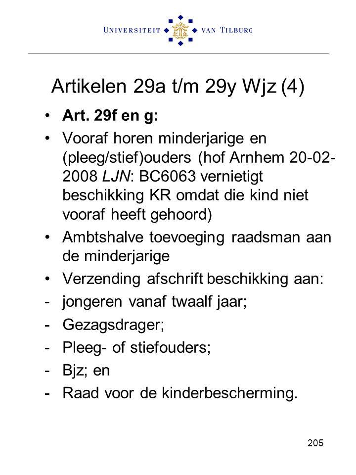 Artikelen 29a t/m 29y Wjz (4) Art. 29f en g: