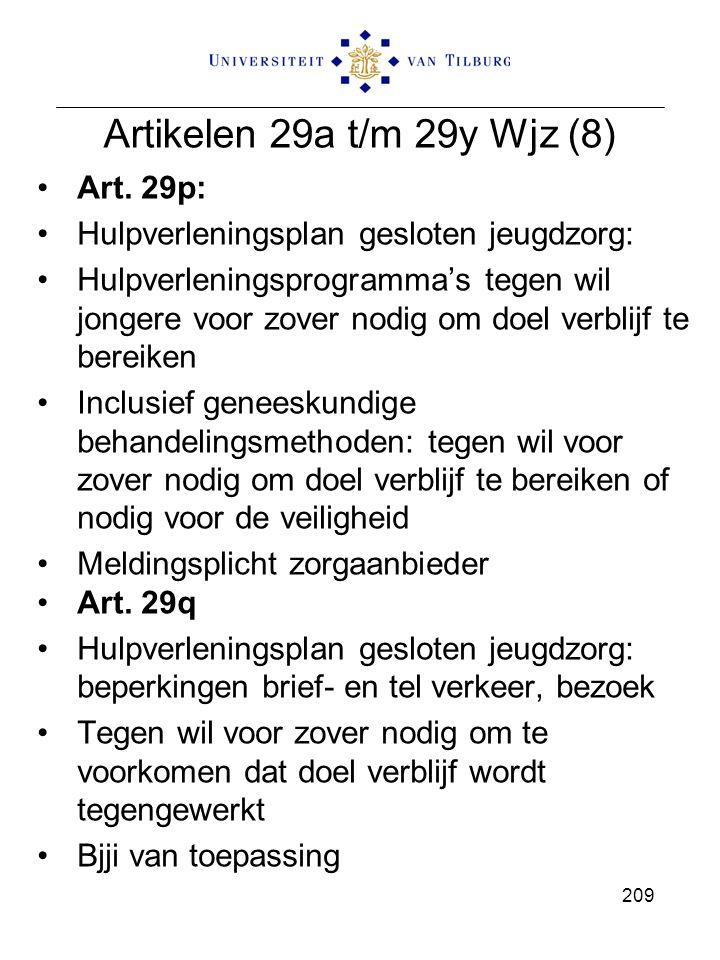 Artikelen 29a t/m 29y Wjz (8) Art. 29p: