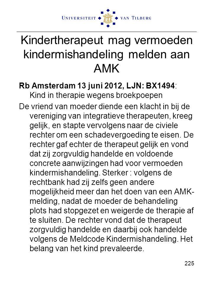 Kindertherapeut mag vermoeden kindermishandeling melden aan AMK