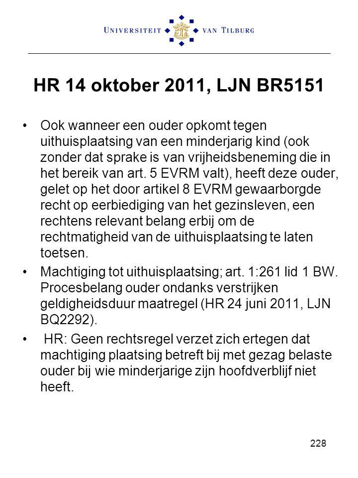 HR 14 oktober 2011, LJN BR5151