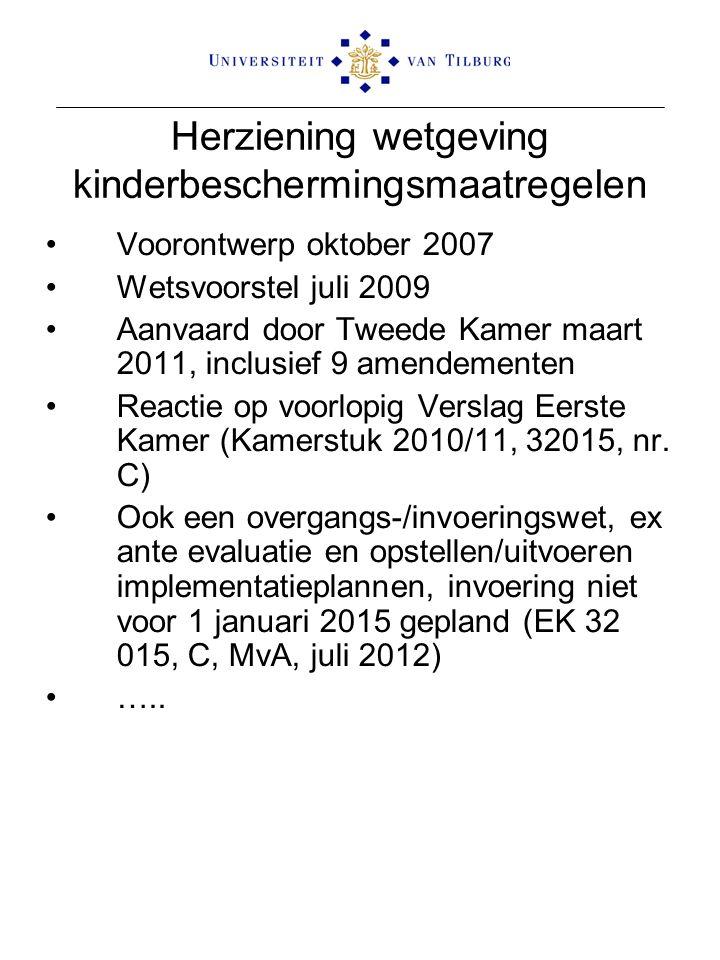 Herziening wetgeving kinderbeschermingsmaatregelen