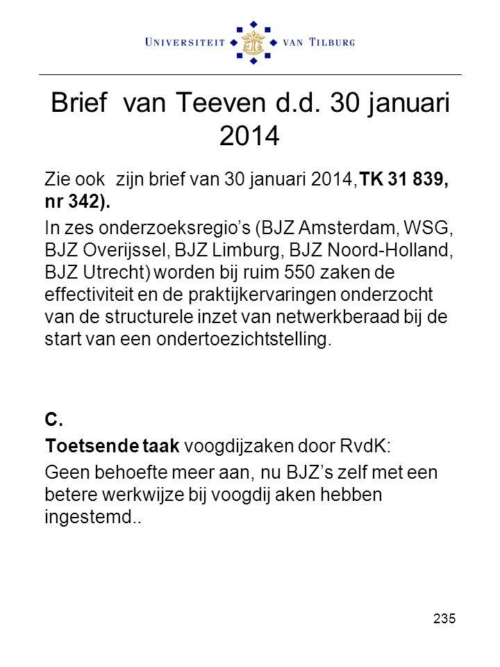 Brief van Teeven d.d. 30 januari 2014