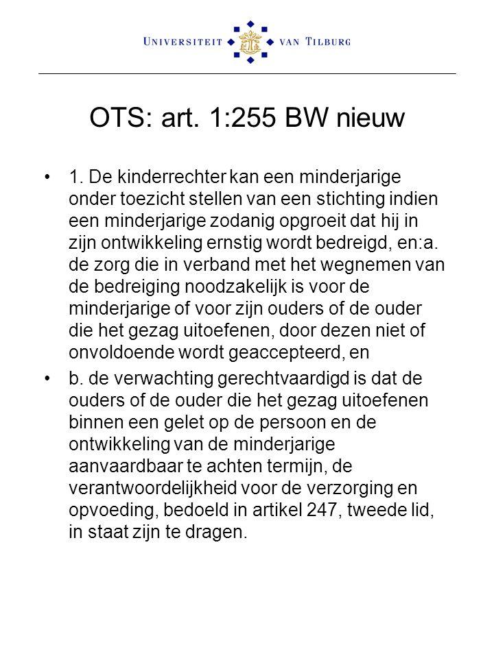 OTS: art. 1:255 BW nieuw