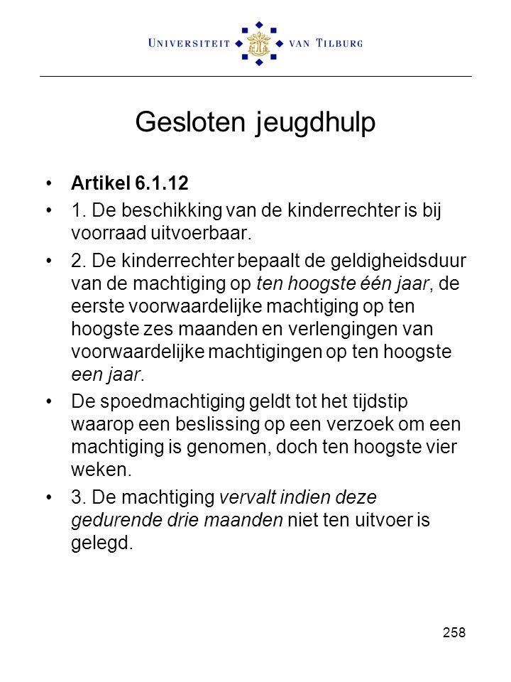 Gesloten jeugdhulp Artikel 6.1.12