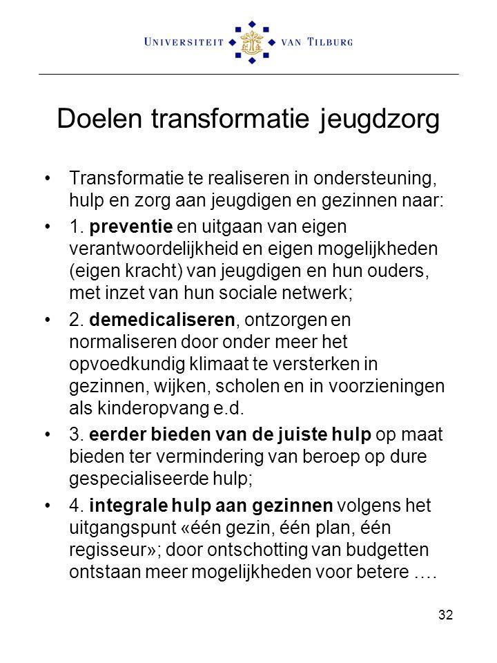 Doelen transformatie jeugdzorg