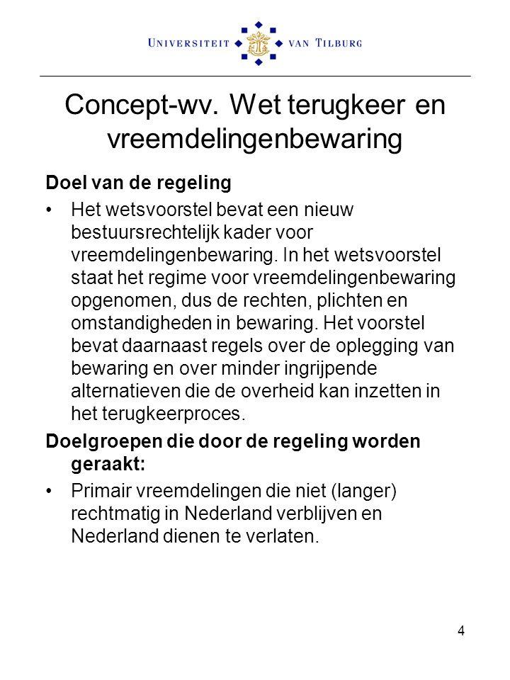 Concept-wv. Wet terugkeer en vreemdelingenbewaring