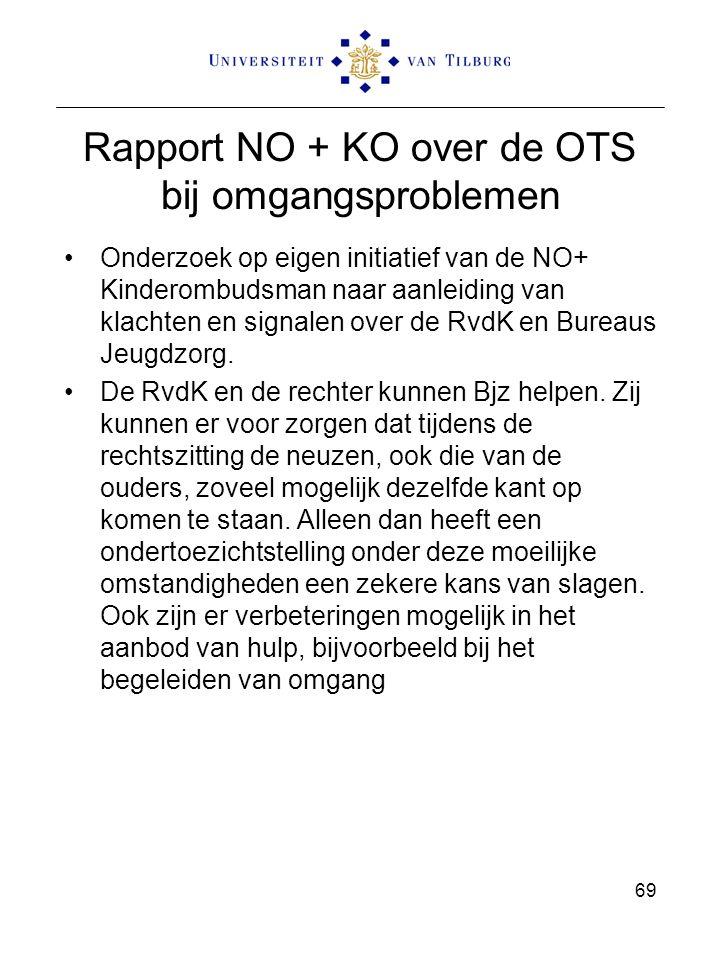 Rapport NO + KO over de OTS bij omgangsproblemen