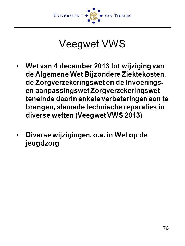 Veegwet VWS