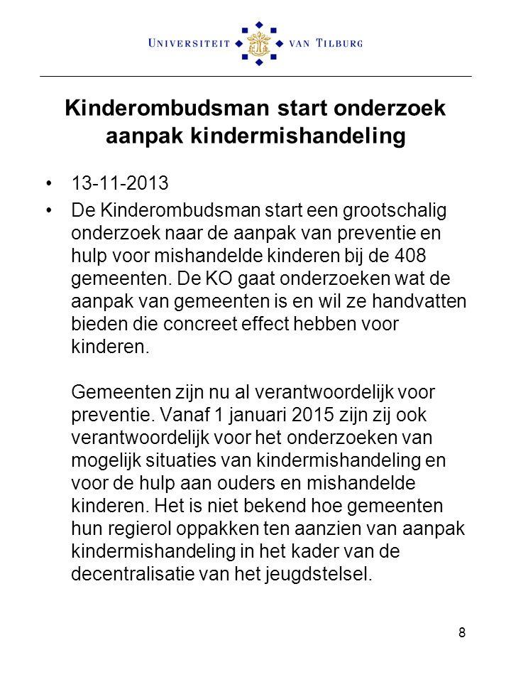 Kinderombudsman start onderzoek aanpak kindermishandeling