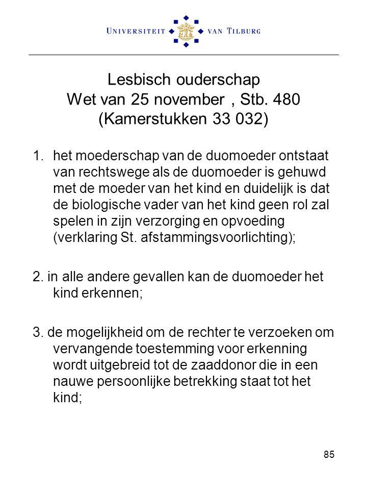 Lesbisch ouderschap Wet van 25 november , Stb