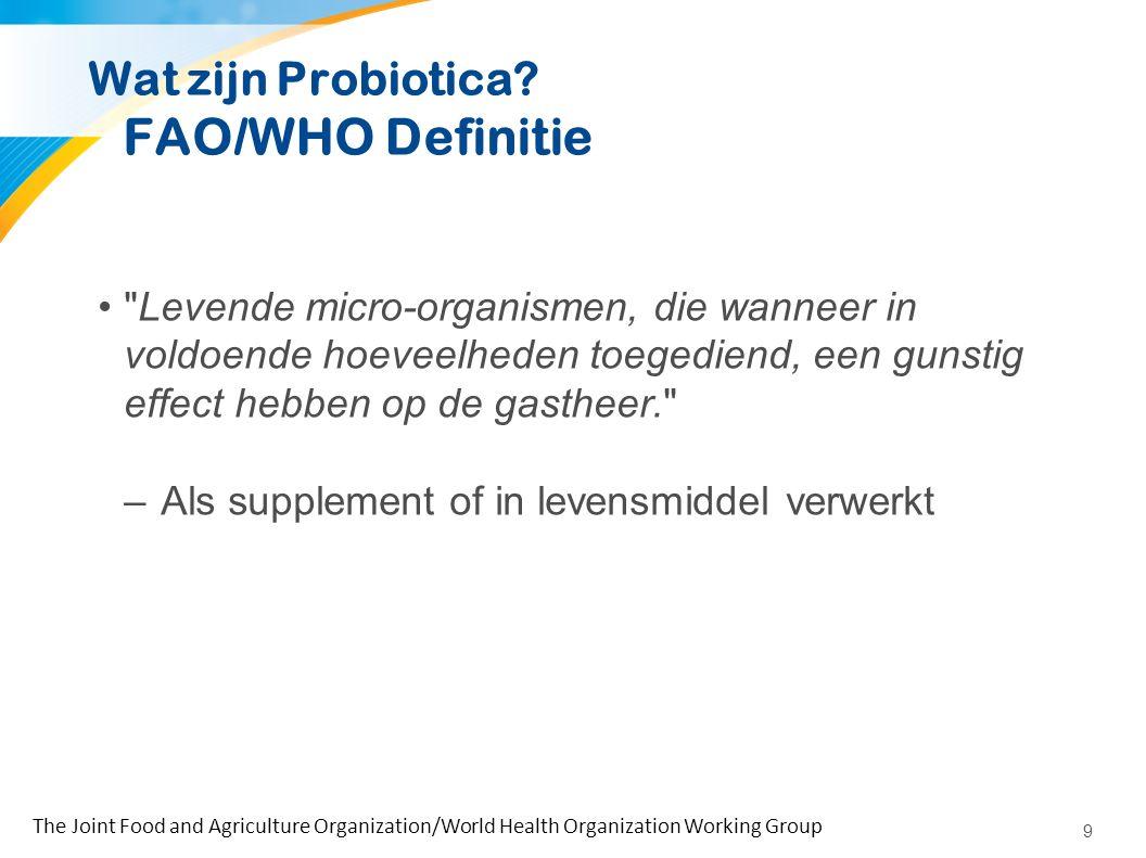 Verschillende stammen gebruikt als probiotica