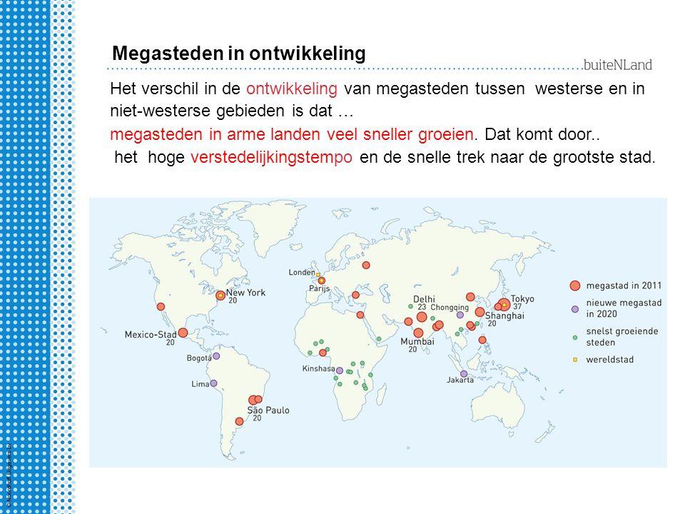 Megasteden in ontwikkeling