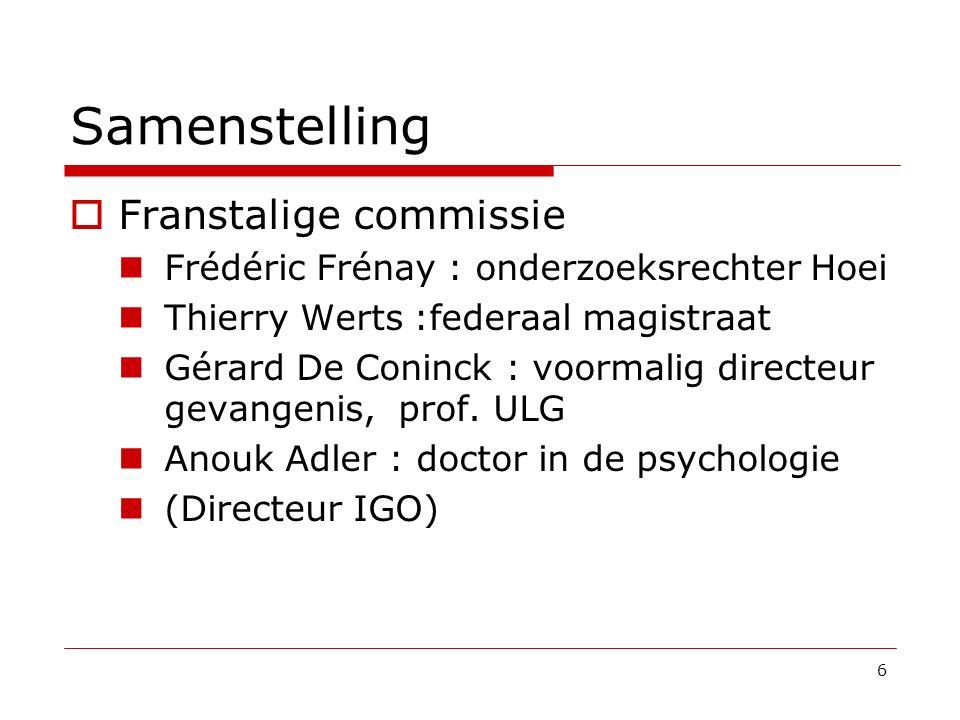 Samenstelling Franstalige commissie