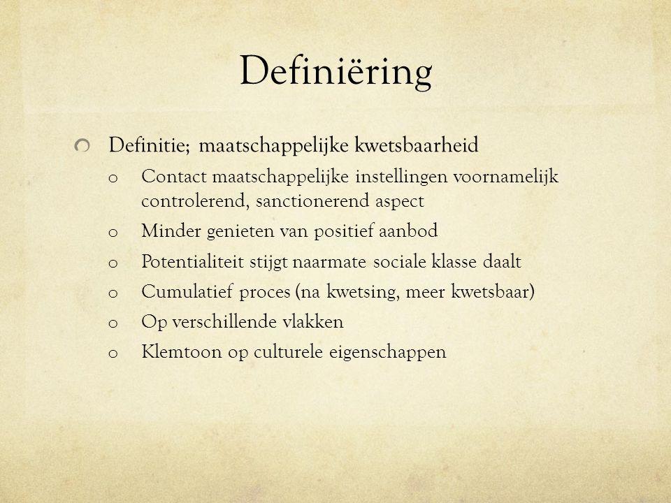 Definiëring Definitie; maatschappelijke kwetsbaarheid