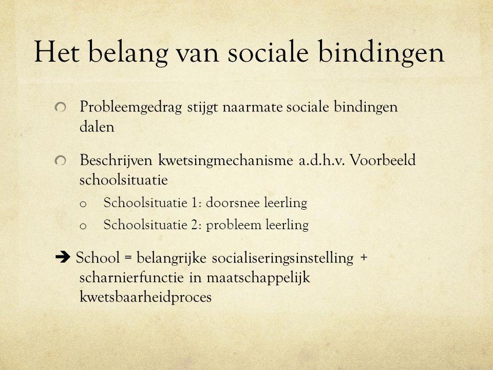 Het belang van sociale bindingen