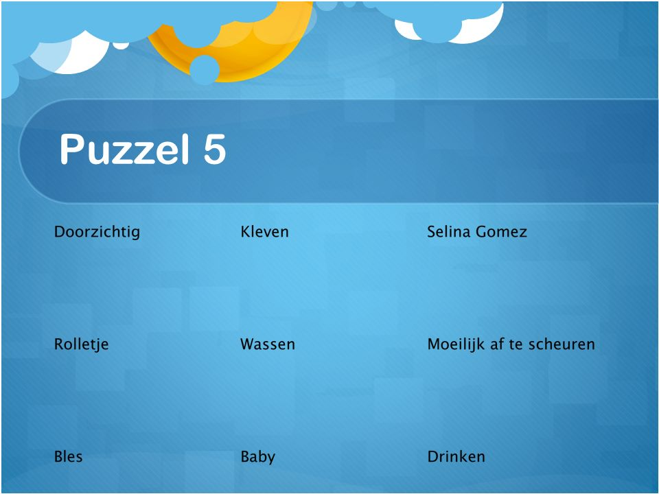 Puzzel 5