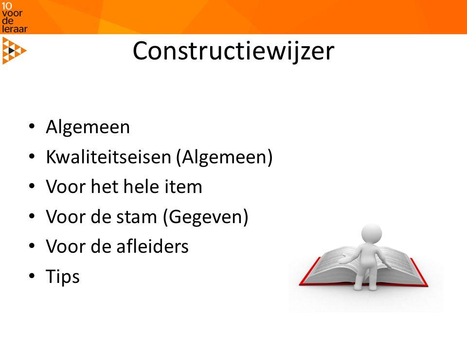 Constructiewijzer Algemeen Kwaliteitseisen (Algemeen)