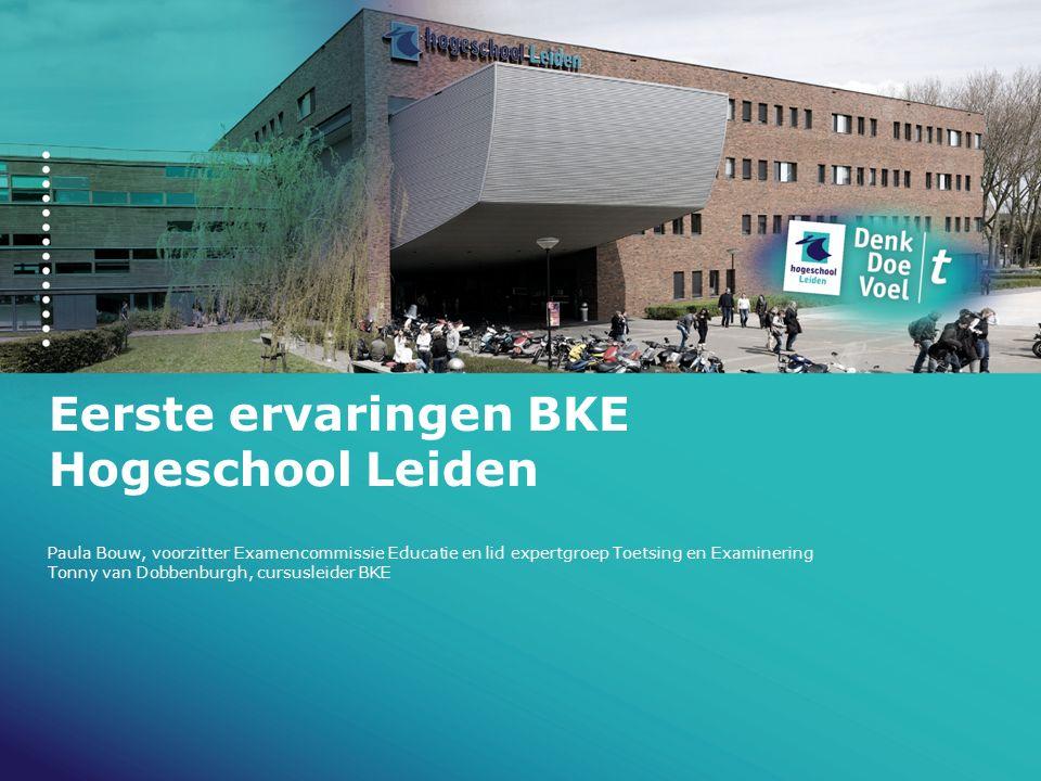 Eerste ervaringen BKE Hogeschool Leiden paula