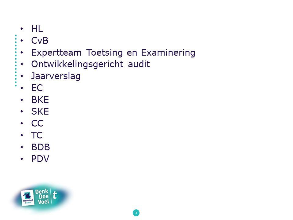 Expertteam Toetsing en Examinering Ontwikkelingsgericht audit