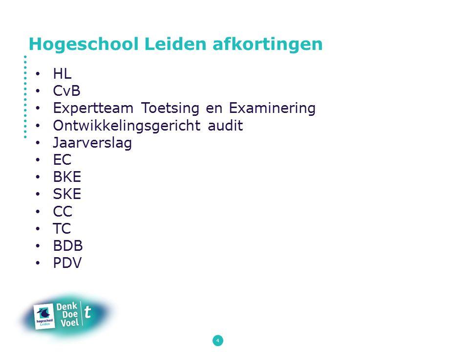 Hogeschool Leiden afkortingen