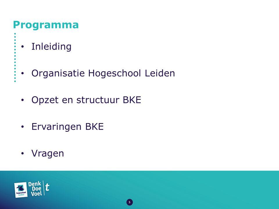 Programma Inleiding Organisatie Hogeschool Leiden